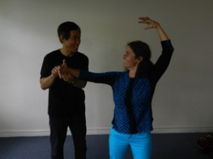 Master Li adjusting me in pose at Nova Scotia